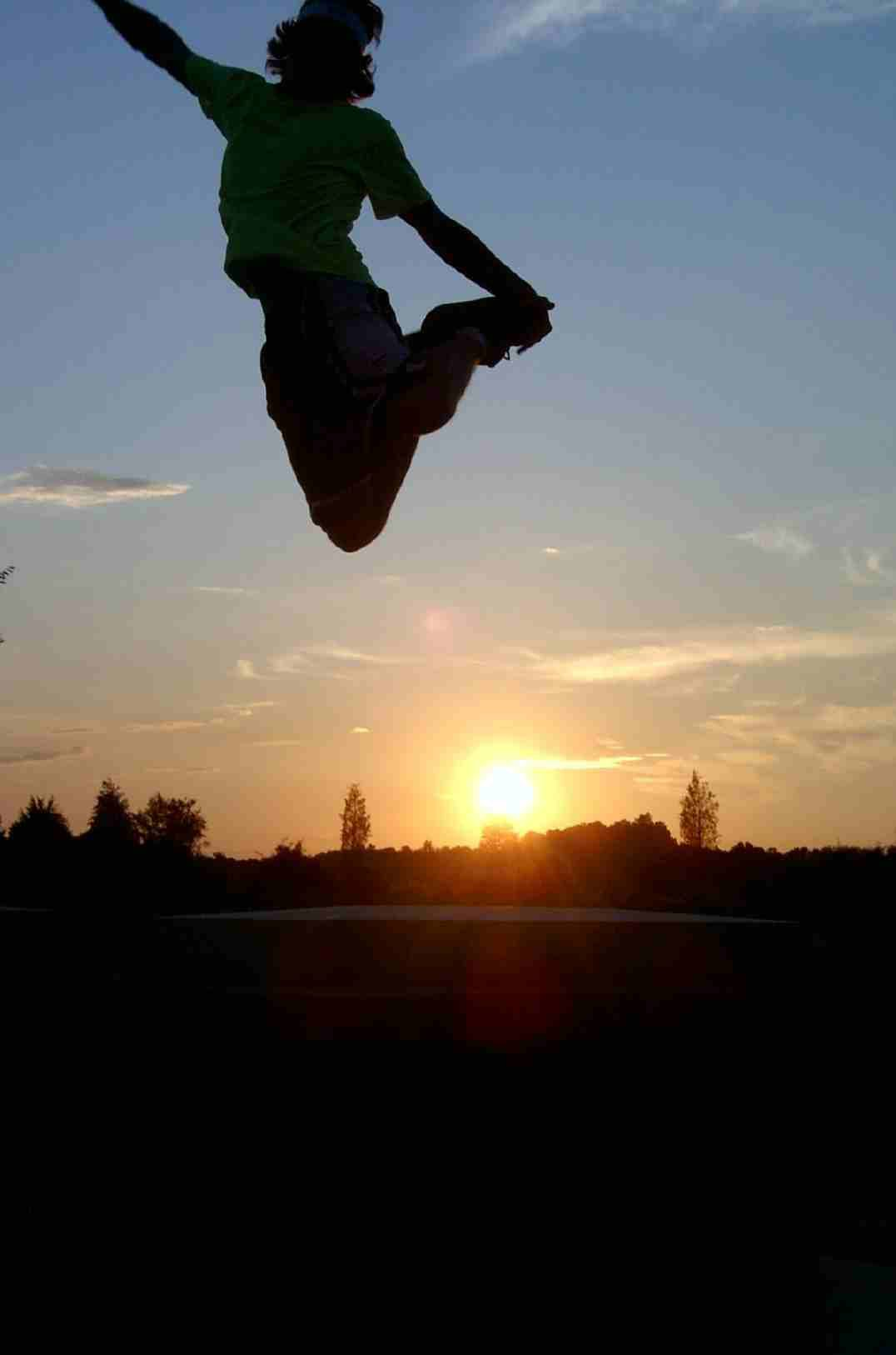 freestyle walking in the sunset