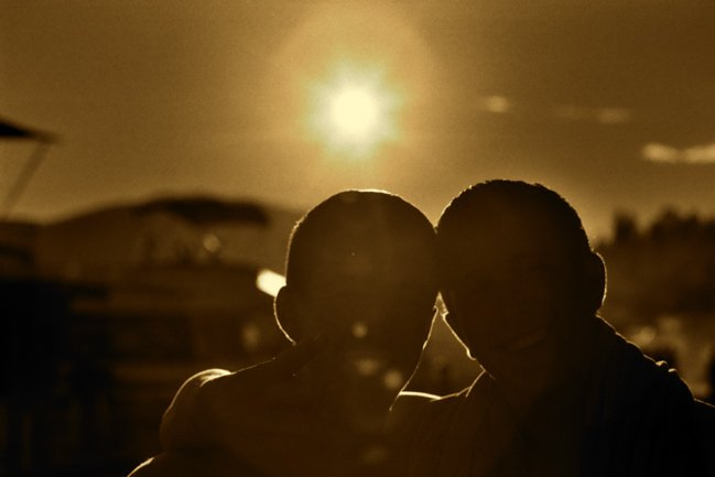 Silhouette of my friends (Sepia Tone)