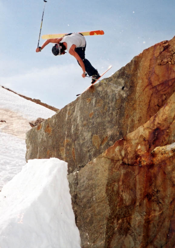 Charley Ager - one foot rock jib of gnar, pond skim in