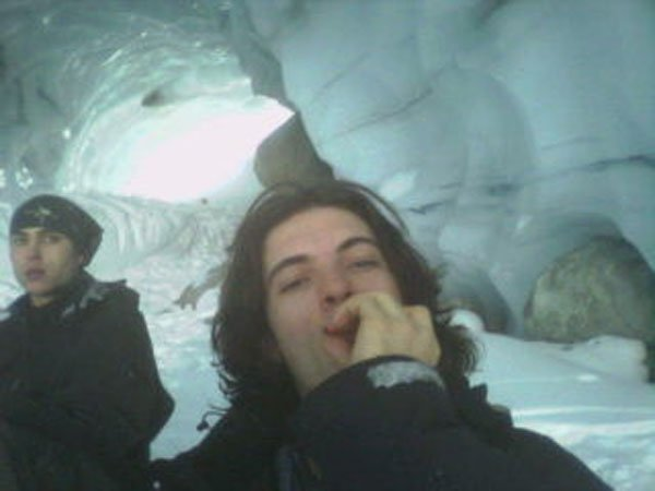 Chuck blazing in ice cave