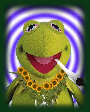 Kermit the frog on weed