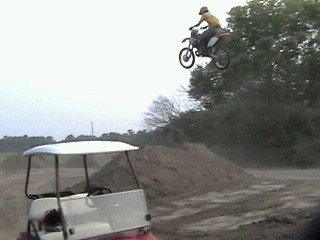 homemade dirtbike jump