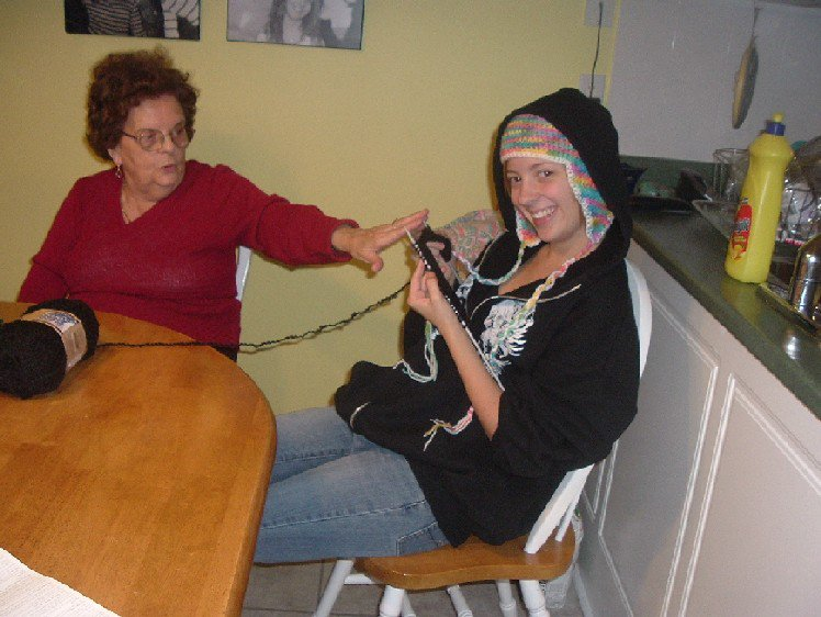 Fucking Knitting biatch. Nonnas got Steeze