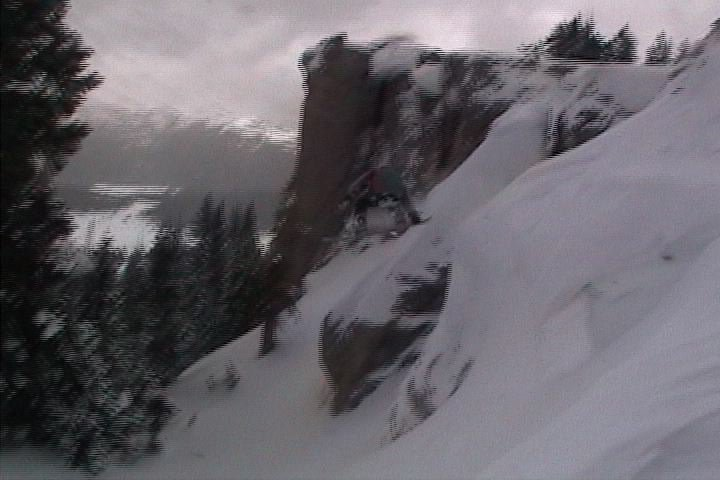 Stalefish off 15 foot cliff sorry low quality