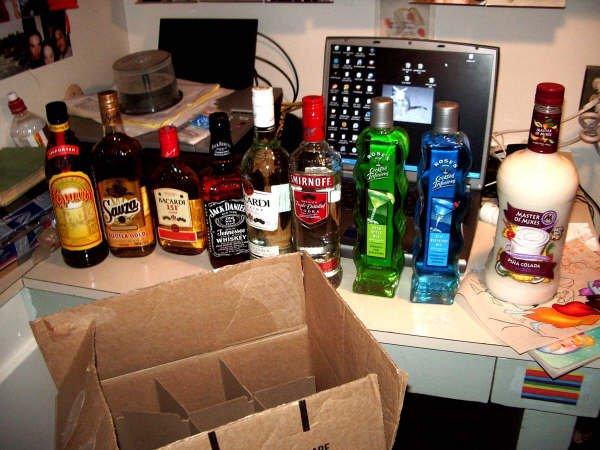 6 bottles, 5 people, 3 days.