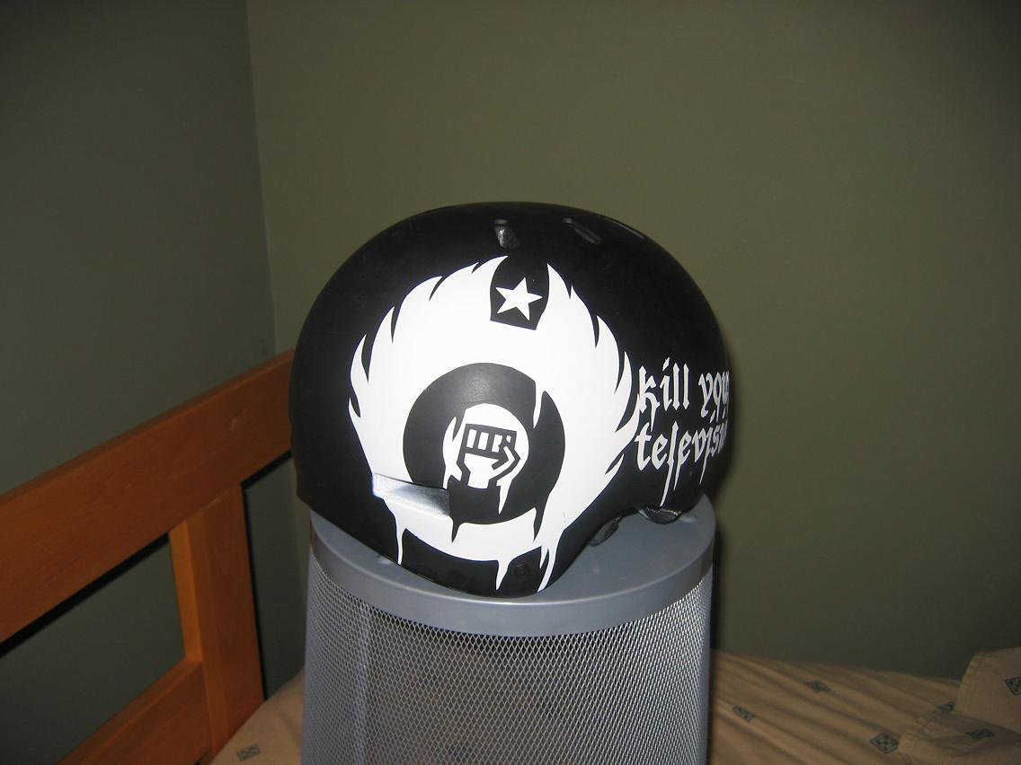 stencil on helmet