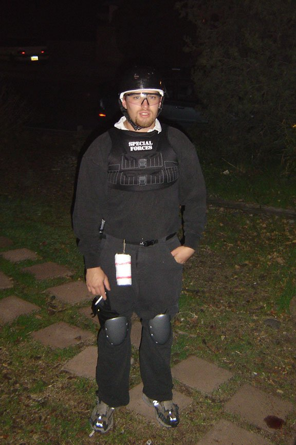 Nate and his kiddie Special Forces outfit