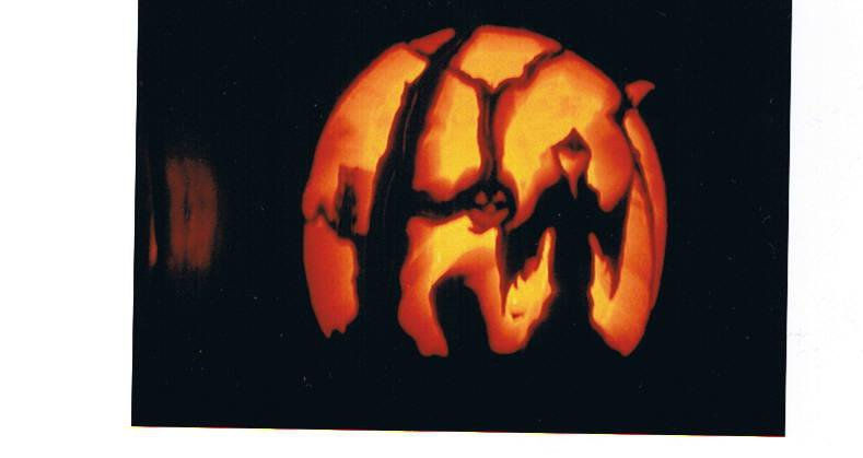 maybe she is muhammad ali of pumpkin carving