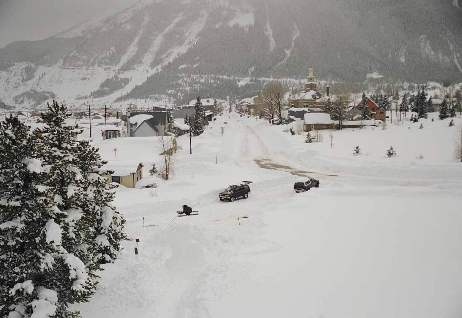 Jump in town of Silverton, CO