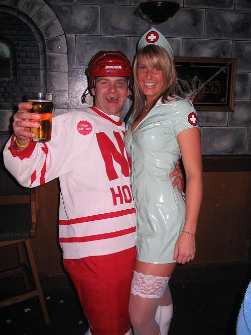 hockey player and Nurse