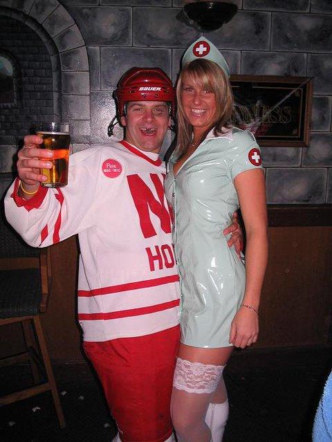 hockey player and Nurse