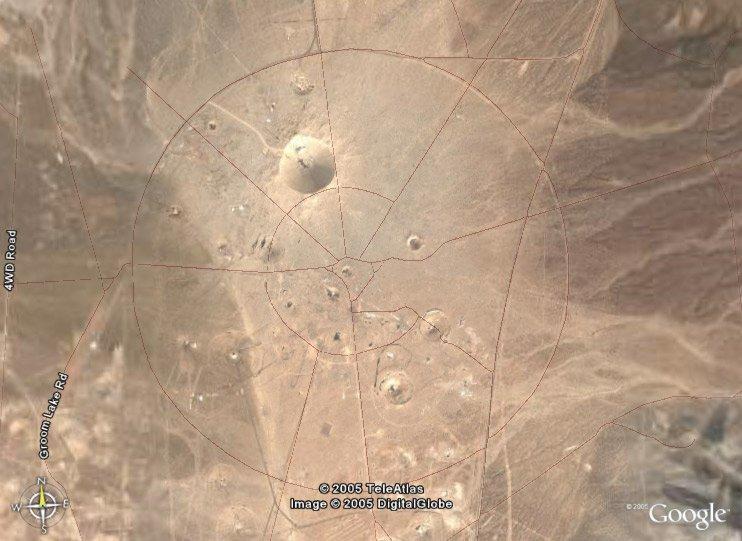 Area 51 - Nuclear Test Site - Google Earth