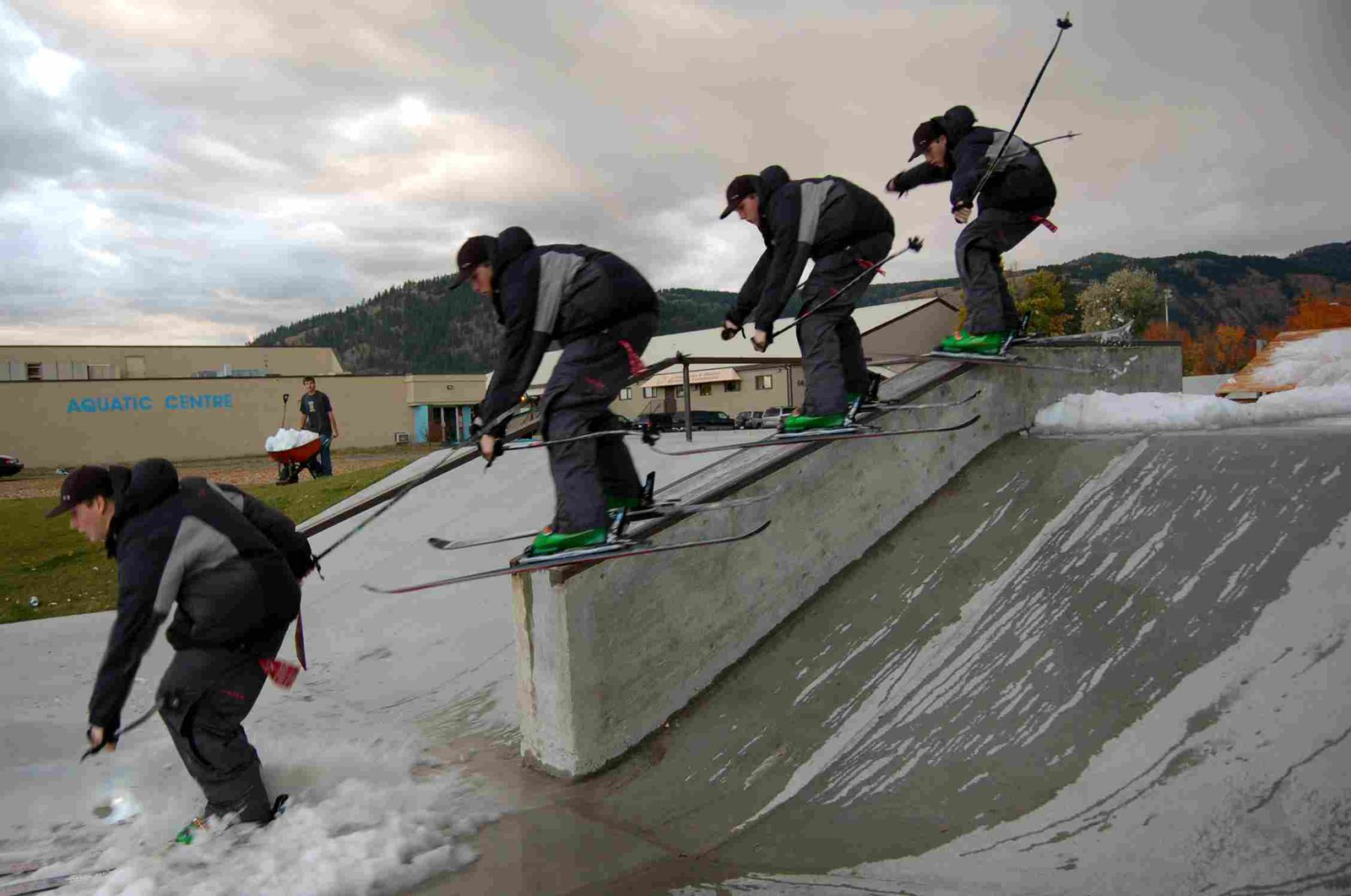 skate park ledge