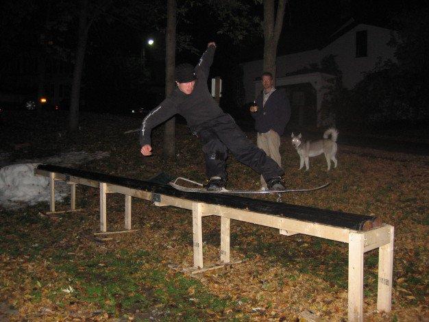 Nice Tailslide on 21 foot rail/box