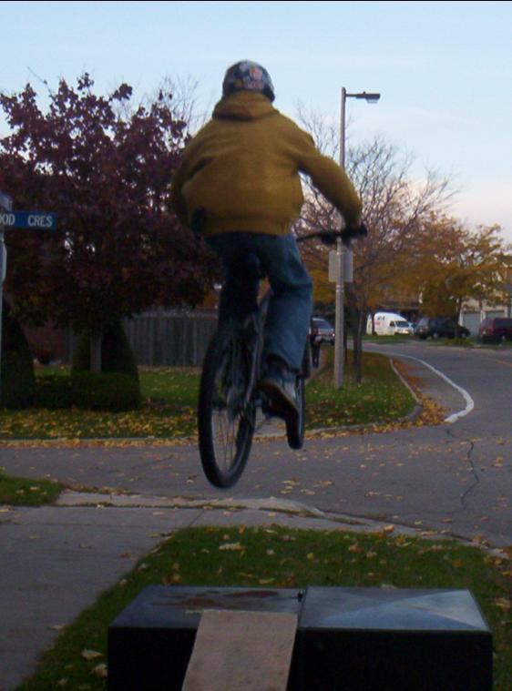 Bike Jump over Green Box