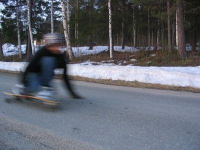 Me racing down my localspot in my home village near the skiiresort.