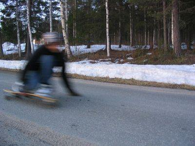 Me racing down my localspot in my home village near the skiiresort.