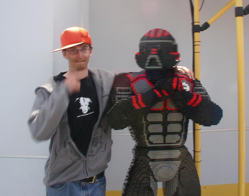 my buddy at legoland. Don't mess with him, he's the man.
