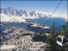 queenstown with remarkables in the background NZ