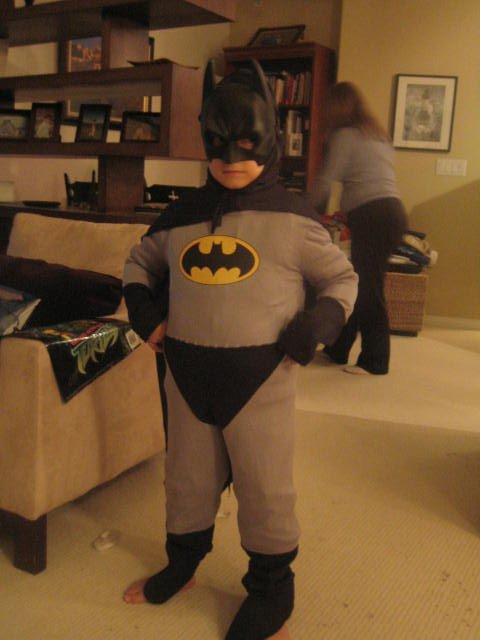 nana nana nana... Fatman! (my little brother for halloween)