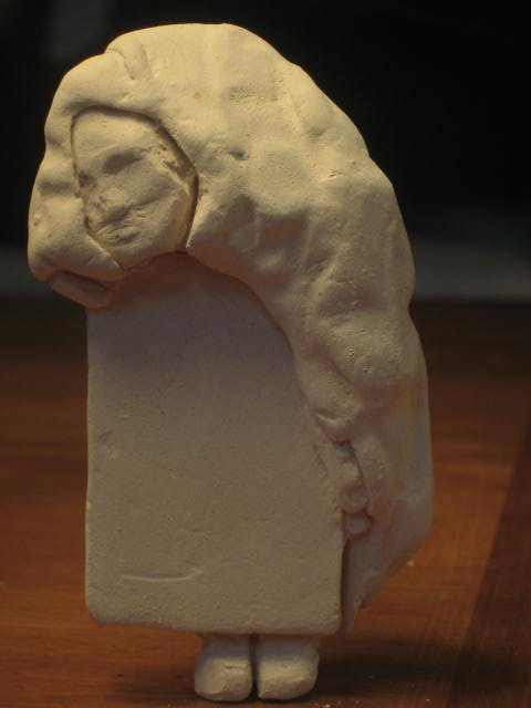 a small sculpture I made using leftover material.