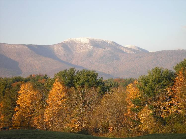 blackhead mountain, fall snowcapped