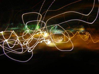 lights swirled