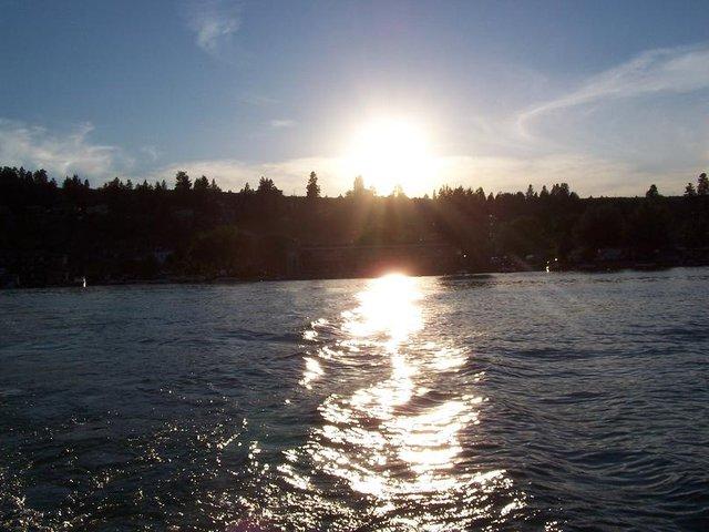 sunset at wood lake