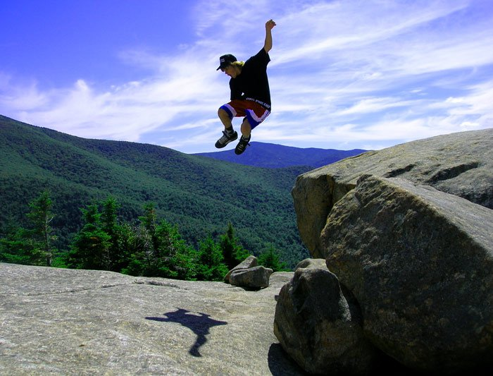 cool shot of me jumping of a rock