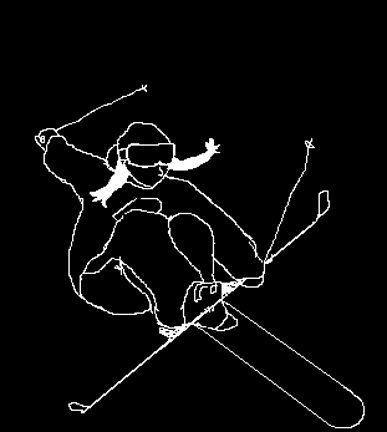 girl skier sketch