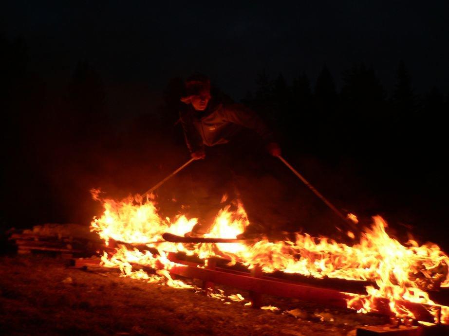 Rail on fire!!