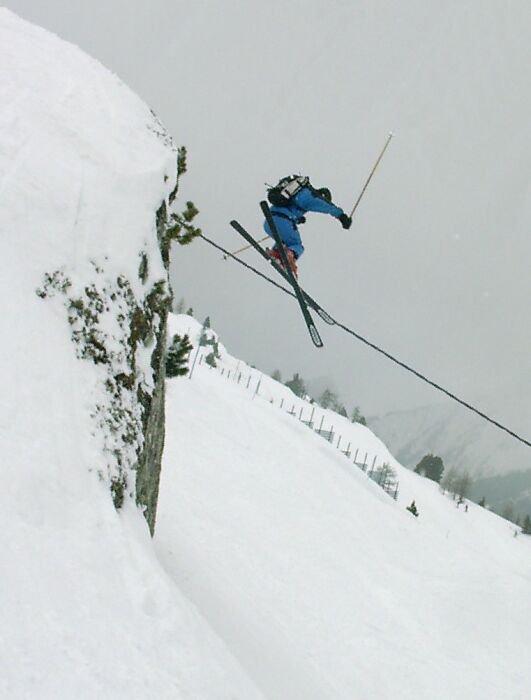 Cliff jump Chamonix