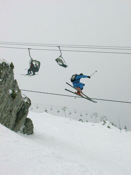 Cliff jump Chamonix II