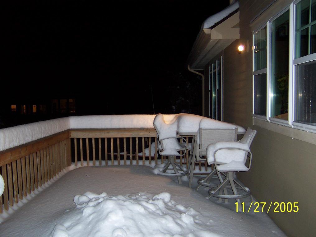 little more snow