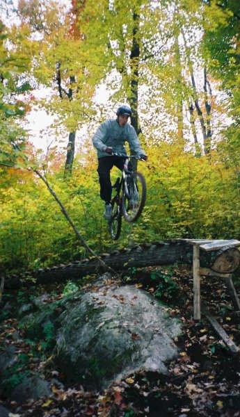 Wheelie drop off logride