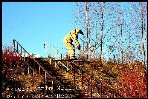 Long handrail nosnow