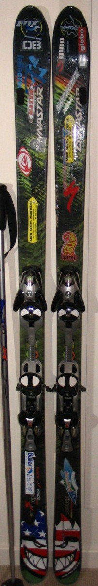 my sticker infested skis