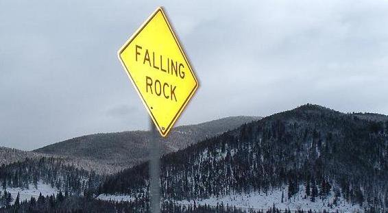 sign with mountains in the background (cool looking)