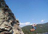 frontflip off a 20 foot cliff