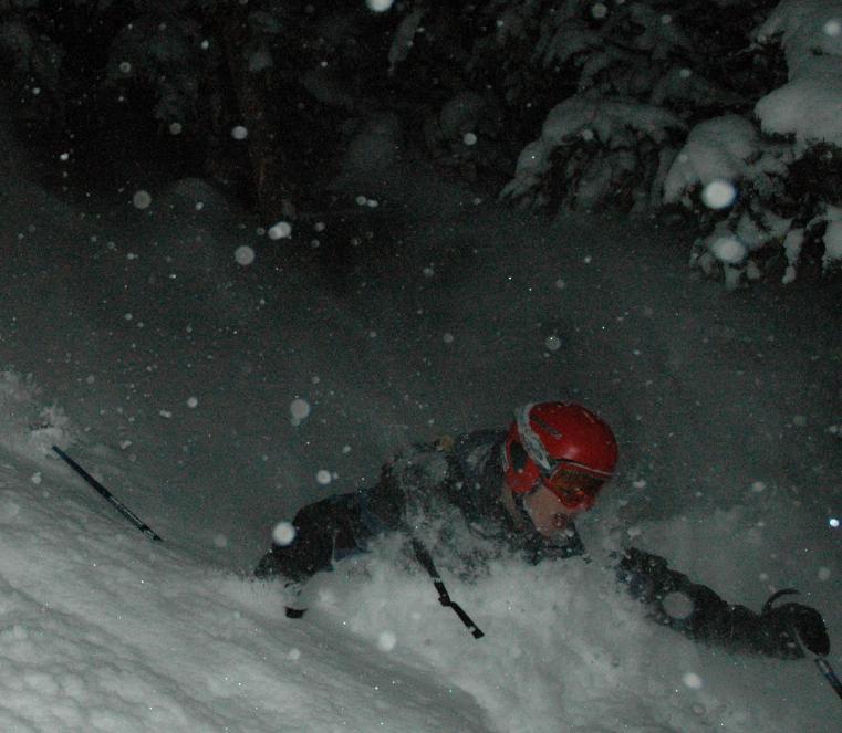 eric newman, deep powder at night