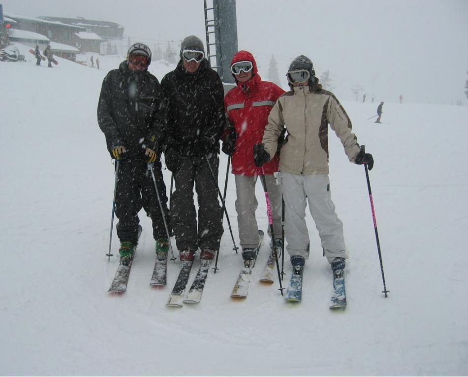 Aspen fun in snow