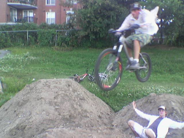 me on a pile of dirt