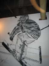 Drawing Underground. On a wall with charcoal
