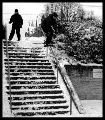 Handrail in Gävle, Sweden