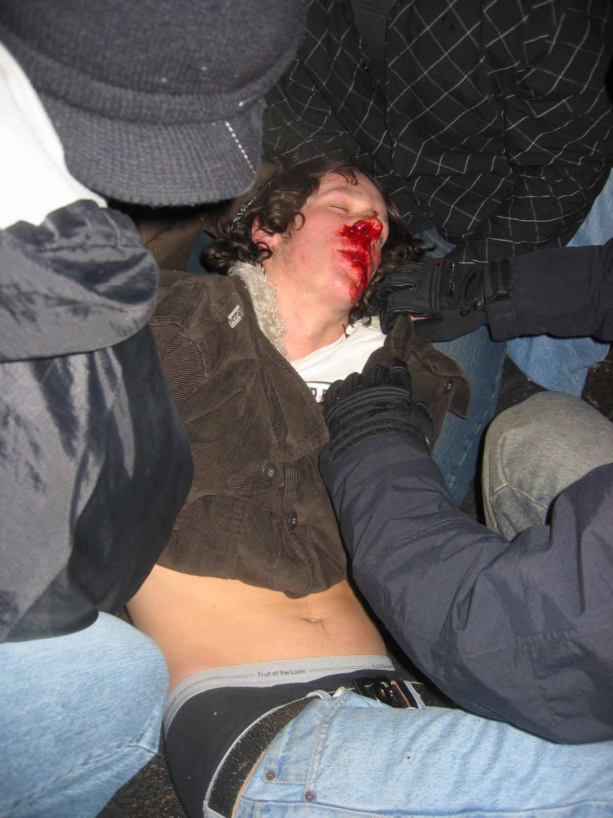 Guy got decked on new years!
