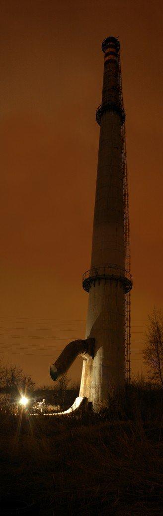 Vertical Pipe Jib by night