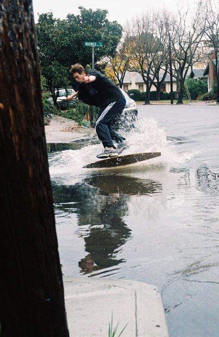kick flip skimboard thinger