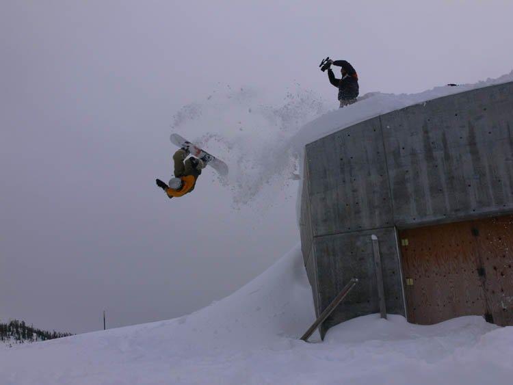 Front flip off bunker