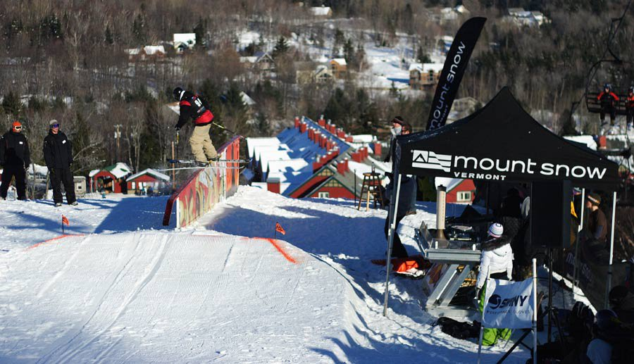 Ahmet Dadali @ Mt. Snow's Monster Rail Jam