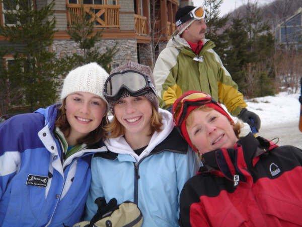 skiing at blue
